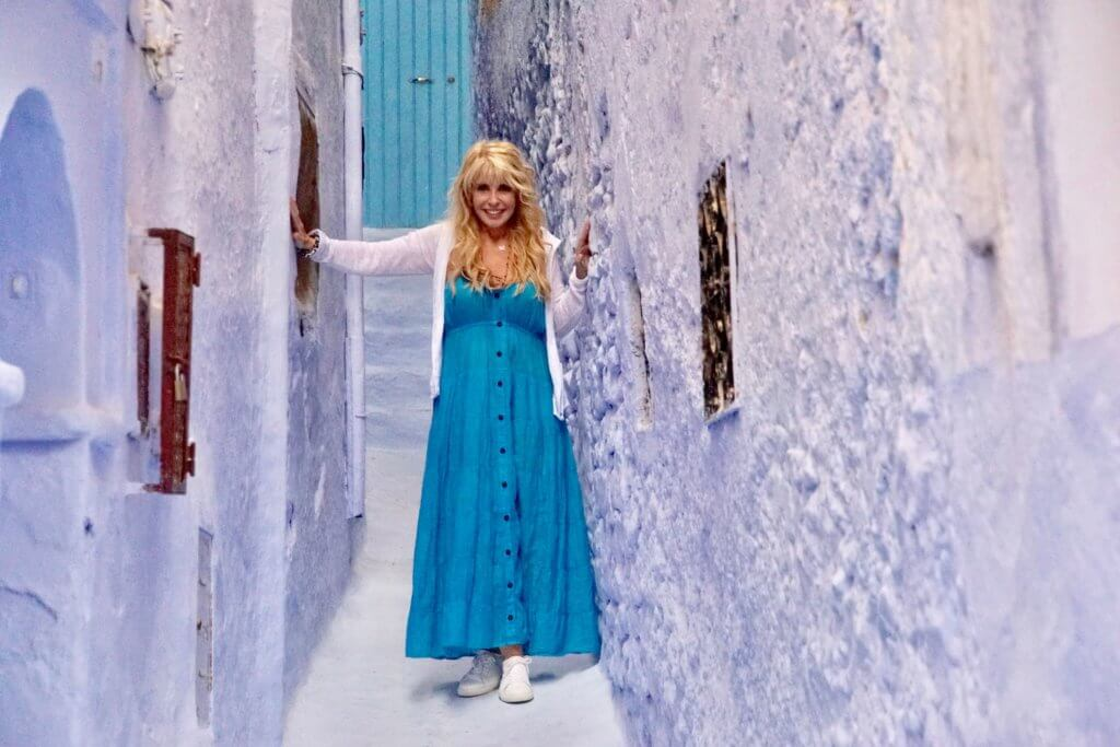 Mary Jean Tully in Chefchaouen