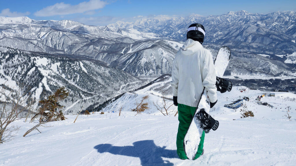 The Japan Alps of Central Honshu Snowboarder