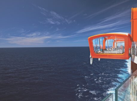 Celebrity Edge, EG, Magic Carpet, exterior, water, ocean, orange, bars and lounges