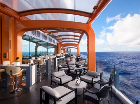 Celebrity Edge, Edge, EG, Public Venues, Public Rooms, Onboard, On board, Magic Carpet, day, bar, dining