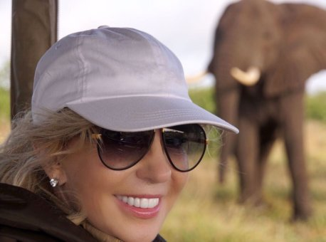 Mary Jean visiting Singita  Pamushana Lodge in Zimbabwe