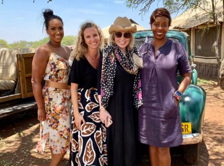 Mary Jean and Tully Team Visiting Singita Faru Faru Lodge