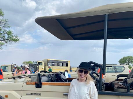 Mary Jean visiting Singita Serengeti House in Tanzania