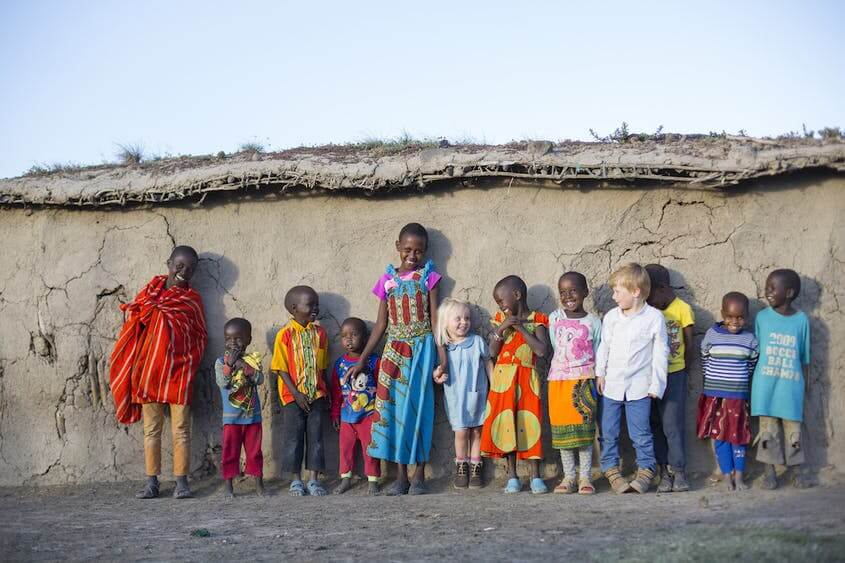 Conservation: Community visit at village near Encounter Mara